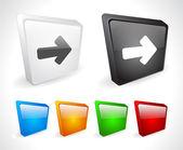 Color de los botones 3d para web. — Vector de stock
