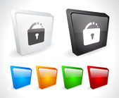 Web の色 3 d ボタン. — ストックベクタ