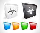 3d färgknappar för webben. — Stockvektor