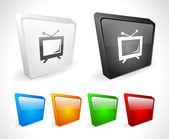 Kolorowych przycisków 3d dla sieci web. — Wektor stockowy