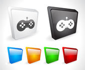 Color 3d buttons for web. — Stockvektor