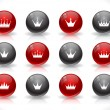 Stock Vector: Buttons with crowns. Vector.