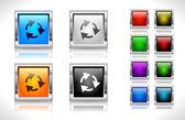 Botones para la web. vector. — Vector de stock