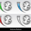 Volume button - Stock Vector