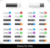 Web buttons pack — Stock Vector