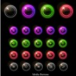Neon glossy web buttons - Stok Vektr
