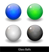 Glossy color abstract glass balls. — Stock Vector