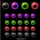 Neon glossy web buttons — Stock Vector