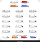 Pacote de botões web — Vetor de Stock