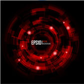 Techno cercle abstrait. eps 10. — Vecteur