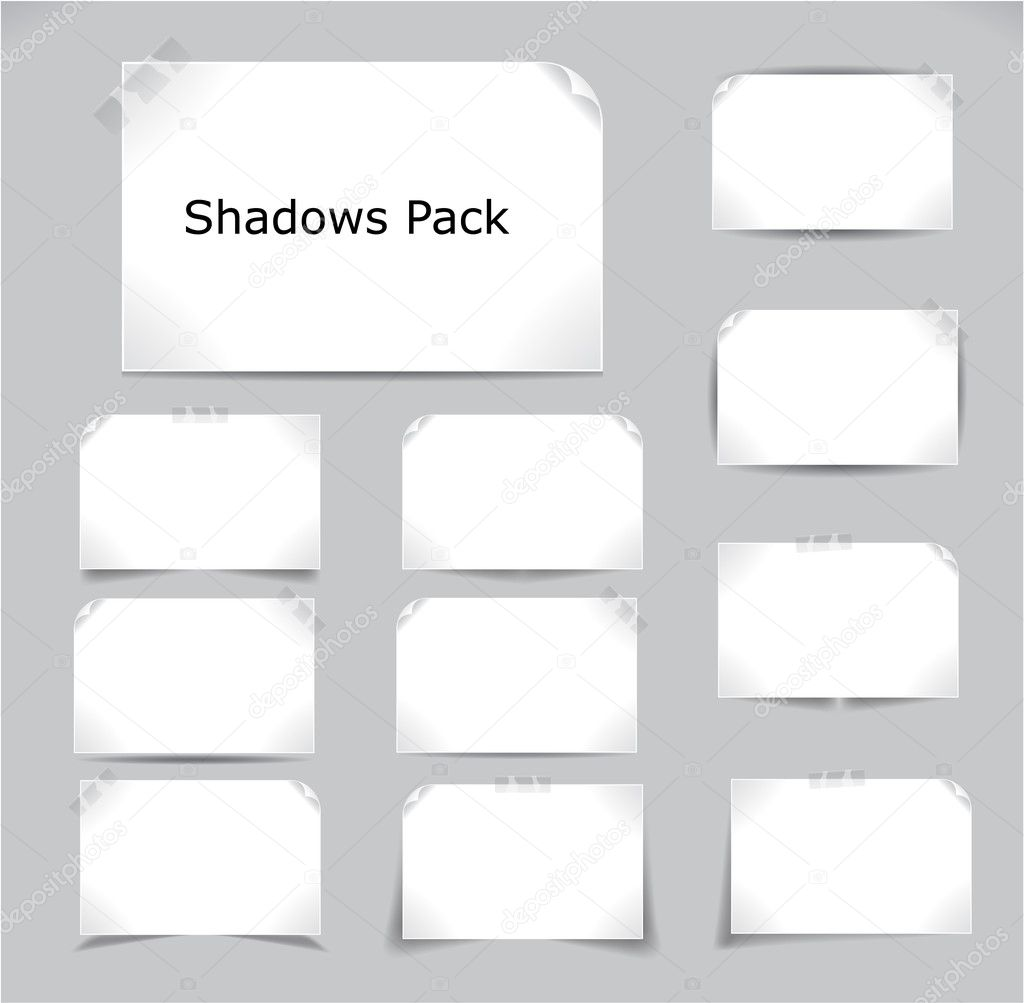 Set of different complex shadows. Vector illustration. — Stock Vector #5800078