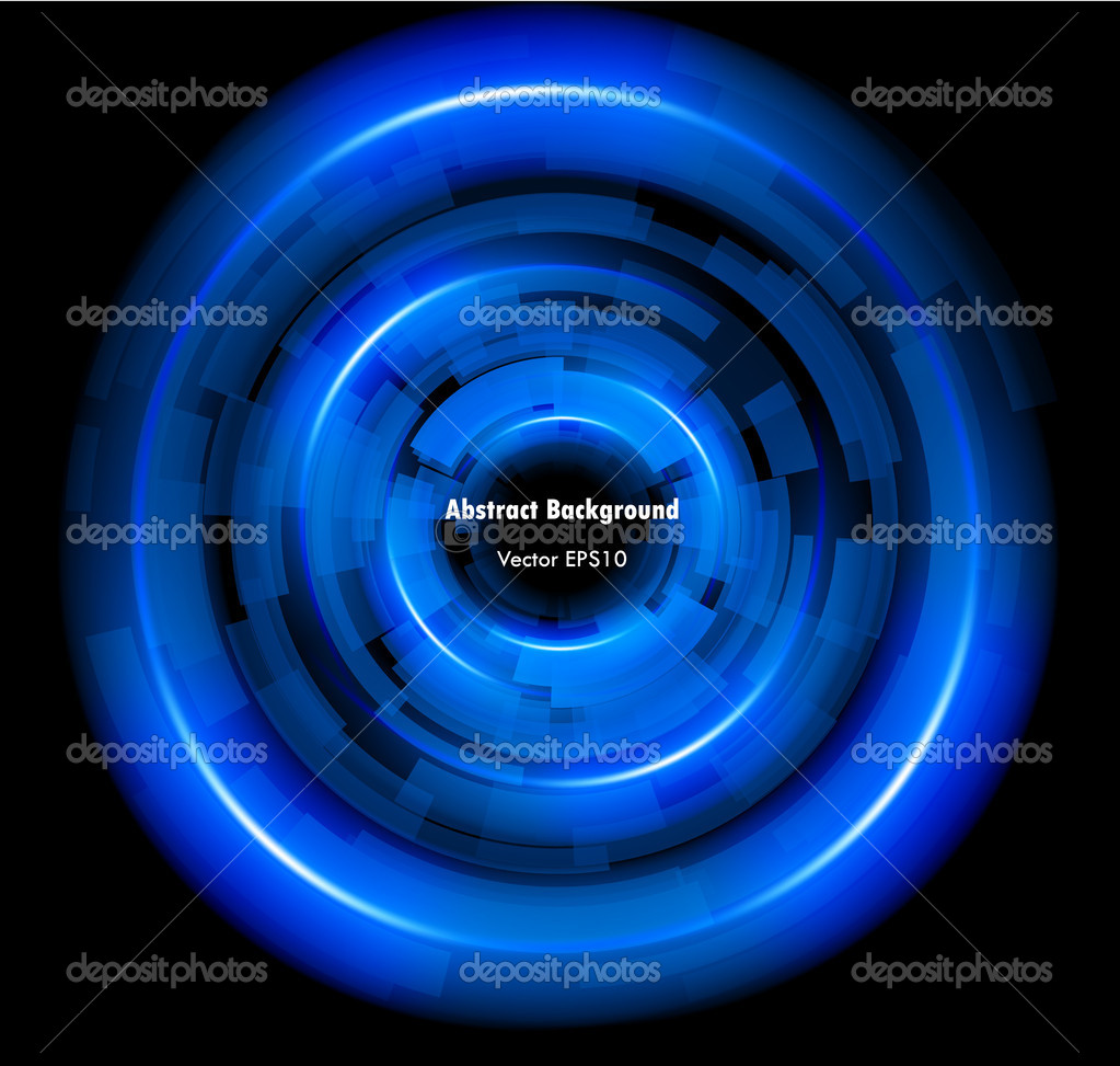 Abstract Techno Circle background. Vector Eps 10. — Stock Vector #5800105