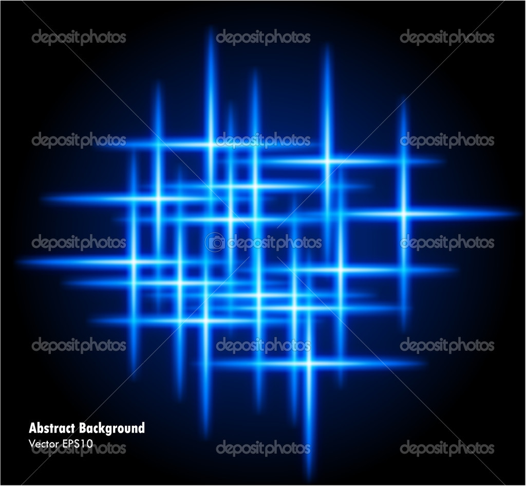 Vector illustration of futuristic color abstract glowing background — Stock Vector #5800110