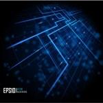 blauwe abstracte gloeiende achtergrond — Stockvector