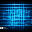 Blue abstract glowing background - Stock Vector