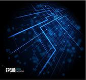 Fond lumineux abstrait bleu — Vecteur