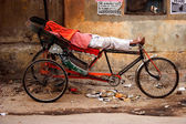 Indian the rickshaw — Stock Photo