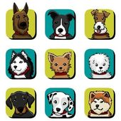 Hund-icon-set — Stockvektor