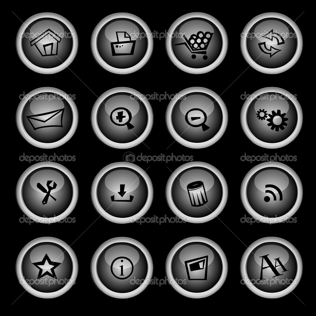 Icon set — Image vectorielle #6330335