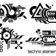 Techno elemetnts set two - Stock Vector