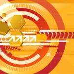 Orange techno background — Stock Vector