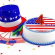 Foto de Stock  : Decorations for Independence Day