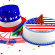 Stockfoto: Decorations for Independence Day