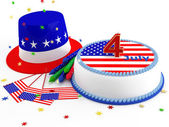 Decorations for Independence Day — Foto Stock