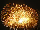 Golden fireworks — Foto Stock