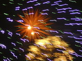 Firework with intensive colors — Stock Photo