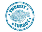 Turbot stamp — Stock Vector