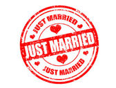 Just married stamp — 图库矢量图片