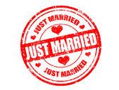 Timbre juste marié — Vecteur