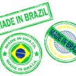 Stock Vector: Made in Brazil stamp