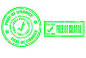 Free of charge stamp — Stock Vector