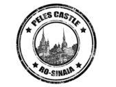 Peles castle stamp — Stock Vector