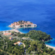 Sveti Stefan (St. Stefan) island-resort in Adriatic sea — Stock Photo