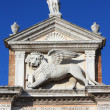 Lion with wings - symbol of Venice - Stock Photo