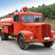 Red retro fire-engine of Montenegro - Stock Photo