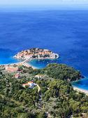 Sveti Stefan (St. Stefan) island-resort in Adriatic sea — Stock Photo