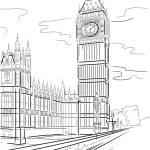 Big Ben of Tower in London — Stock Vector