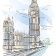 Big Ben of Tower in London — Stock Vector