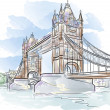 Stock Vector: Tower bridge in London