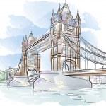 Tower bridge in London — Stock Vector