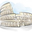 Stock Vector: Drawing color Colosseum, Rome, Italy