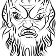 Face of Faun - Stock Vector