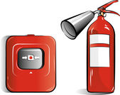 Drawing of the co2 fire extinguisher — Stock Vector