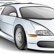 Stock Vector: Drawing of car