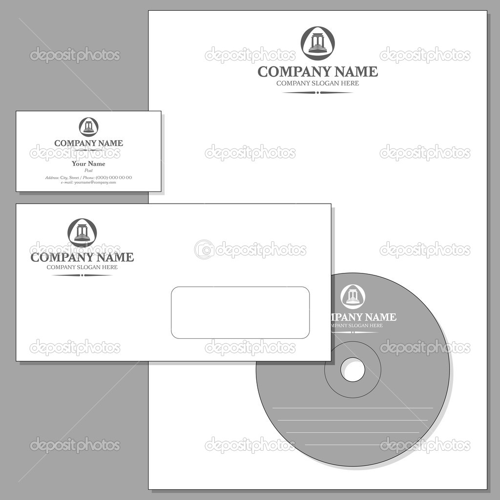 Vector Set of Corporate identity (Envelope, Visiting card, Headed note-paper, CD) — Stock Vector #6730071