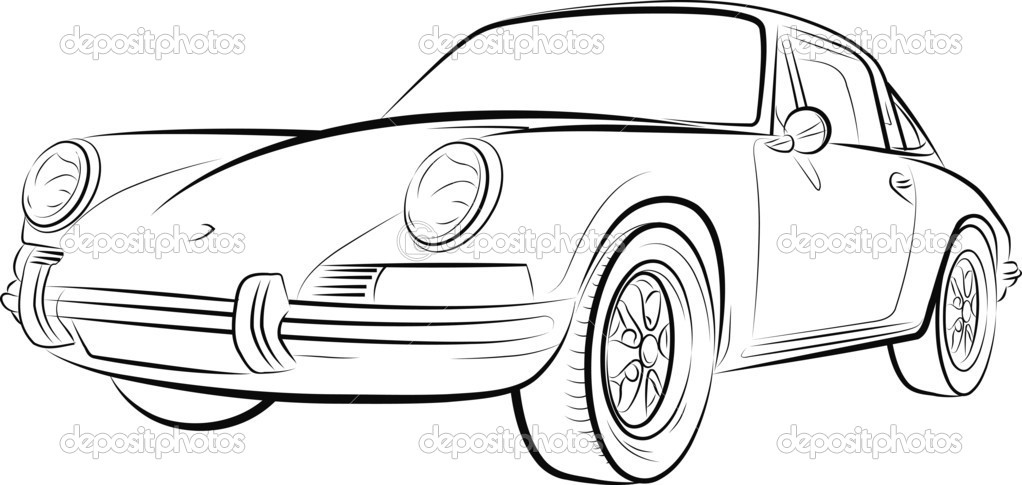 Afbeelding Kleurplaat Raceauto Rysunek Z Drogich Samochod 243 W Wektor Stockowy 6731461